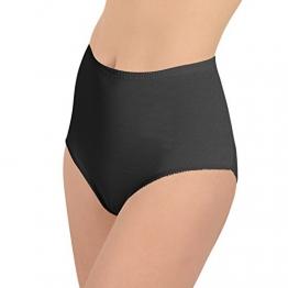 6er Pack Damen Slip in Feinripp-Qualität Schwarz-XL - 1