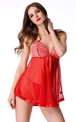 Avidlove Damen Sexy Bodydoll Nachtkleid Unterwäsche Lingerie mit G String Dessous Erotik Set -
