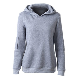 Daman Normallack Hülse Ellenbogen-Patch Crimpen Absicherung mit Kapuze Pullover weibliche langärmeligen T-Shirt pulli hoodie Kapuzenshirt outwear (XXL) -