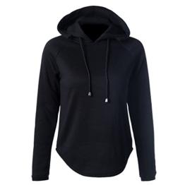 Daman Pullover feste Farbe lang kurz nach bevor HauptHoodie Schlinge Pumpen Irregular Rundhalsausschnitt Lose pulli hoodie Tuniken Kapuzenshirt Kapuzenjacke (XXL) -