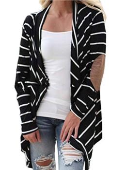 Damen Outwear Cardigan Zebra Casual Sweatshirt Lose Langarm Nadelstreifen Frauen Beiläufige Flickwerk Gestrickte Strickjacke Tops Outwear -