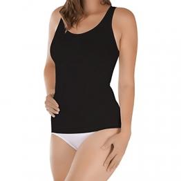 Damen Seamless Form-Hemd Schwarz-XL - 1