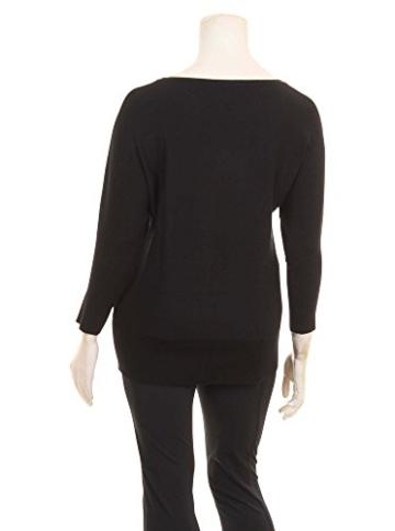 Dünner Pullover mit Inside-Out-Nähten in schwarz in Übergrößen (XL) von Elena Miro -
