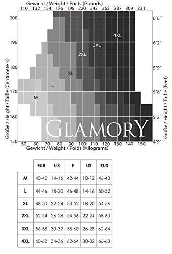 GLAMORY Damen Halterlose Strümpfe Allure 20 DEN, Schwarz (Schwarz), XX-Large (Herstellergröße: 2XL-(52-54)) -