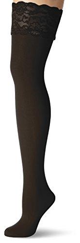 GLAMORY Damen Halterlose Strümpfe Micro 60 DEN, Schwarz (Schwarz), XX-Large (Herstellergröße: 2XL-(52-54)) -