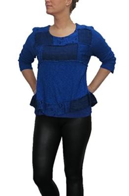 Lagenlook Bluse von SARAH SANTOS Shirt auch in großen Größen , Größe:XL -