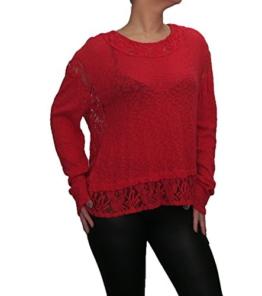 Langarmshirt Bluse von SARAH SANTOS Shirt mit Spitze auch in großen Größen, Größe:2XL -