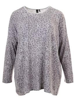 Legerer Pullover mit Animal-Print in grau in Übergrößen (XL) von Yoek -