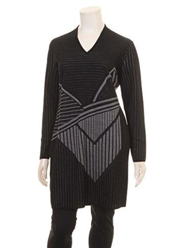 Long-Pullover mit Muster in schwarz/grau in Übergrößen (XXL) von Elena Miro -