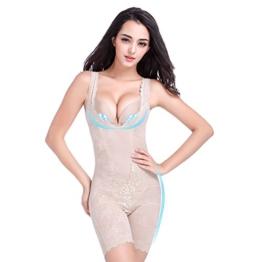 Missyhot Corset Damen Body Shaper Bodysuit Korsage Miederhose Ohne Bügeln Figurformer Bustiers (3XL, fleischfarbe) -