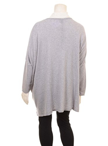 Oversized Pullover in grau in Übergrößen (XL) von Yoek -