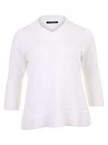 Pullover Acacia mit schicken Details in weiß in Übergrößen (XL) von Marina Rinaldi - 1