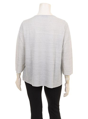 Pullover Amelia mit silbernen Fäden in Übergrößen (XL) von Marina Rinaldi -