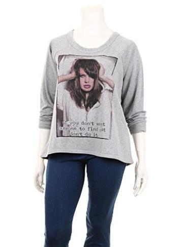 Pullover mit Print in Lila in Übergrößen (XL) von Zizzi -