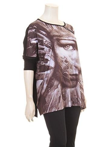 Pullover mit Print in schwarz/braun in Übergrößen (XL) von Yoek -