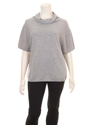 Pullover mit Rollkragen in grau in Übergrößen (XXL) von Elena Miro -