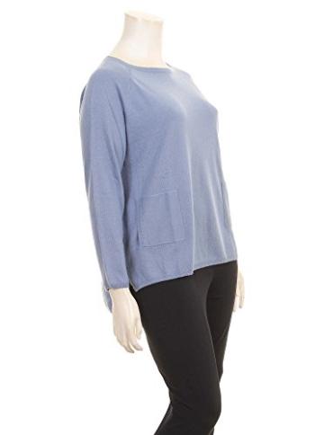 Pullover mit Taschen in blau in Übergrößen (XXL) von Elena Miro -