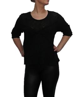 Shirt von SARAH SANTOS auch in großen Größen Schwarz Rundhalsausschnitt, Größe:XL -