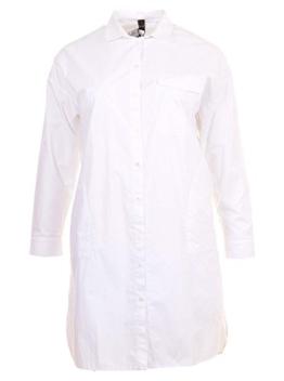 Stylische Longbluse in weiß in Übergrößen (XL) von Yoek -
