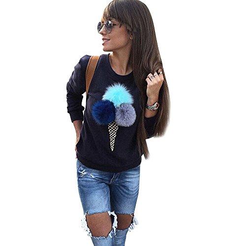 topunder damen sweatshirt pl sch kugel langarm leger bluse. Black Bedroom Furniture Sets. Home Design Ideas