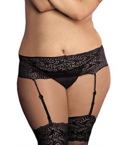 VIARDI® Zauberhaftes Plus Size verspielter Strapsgürtel aus feiner Spitze / XL - XXL (XL - XXL) -