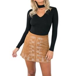 WOCACHI Damen Pullover Frauen Knit beiläufige Slim Fit Warm Lange Hülsen Pullover Outwear Tops Sweater Schwarz (XL, Schwarz) -